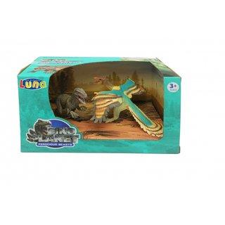 Spielset Dinosaurier 2-Teilig Velociraptor
