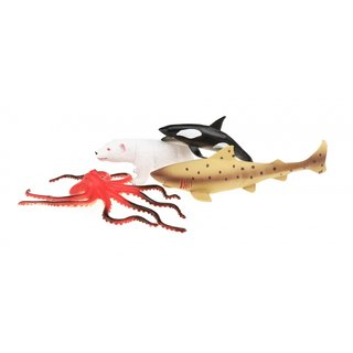 Meerestiere Set Tierwelt Tierwelt 4-Teilig