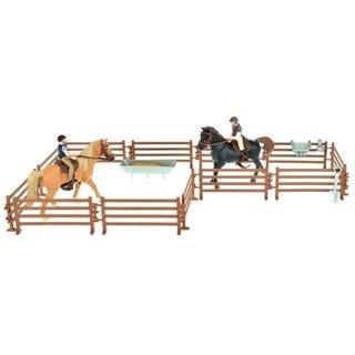 Pferde Pro Zwei Pferde Mit Reitern Und Zubehör