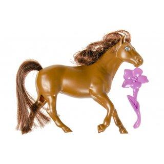 Pferd Mit Pinsel 14 Cm Braun