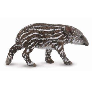 Wilde Tiere: Tapir Kalb 6 Cm Dunkelbraun/Weiß