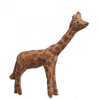 Filztier-Giraffe 15 Cm Hellbraun