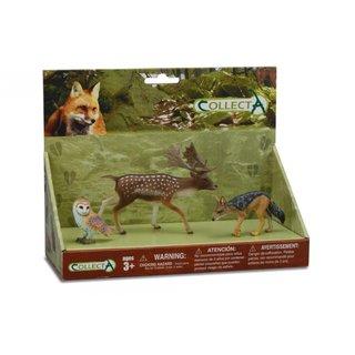 Waldtiere: Eulen-, Fuchs- Und Hirschspiel-Set 3-Teilig