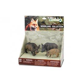 Waldtiere: Spielset In Geschenkbox 3-Teilig