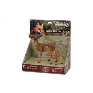 Waldtiere: Spielset Im Geschenkkarton In 2 Teilen
