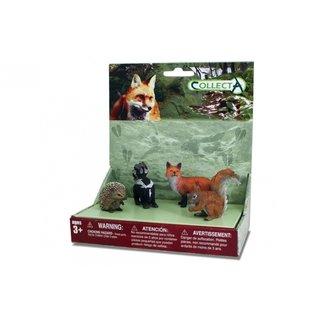 Waldtiere: Spielset In Geschenkverpackung 4-Teilig