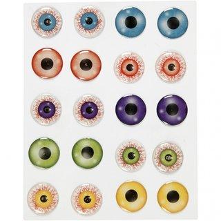 Aufkleber 3D-Augen Selbstklebend 2 Cm