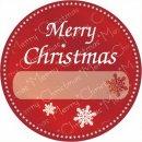 Etiketten Rot Frohe Weihnachten 1000 Stück