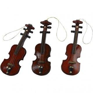 Dekorative Geige Braun 8 Cm 12 Stück