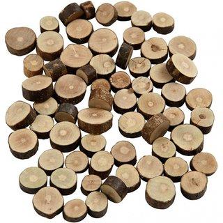 Holzscheiben 10-15 Mm Rund 5 Mm 230 Gramm