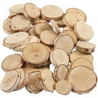 Holzscheiben 25-45 Mm Oval 7 Mm 600 Gramm