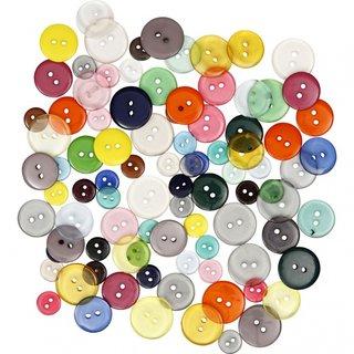 Knöpfe Mehrfarbig 100 Stück