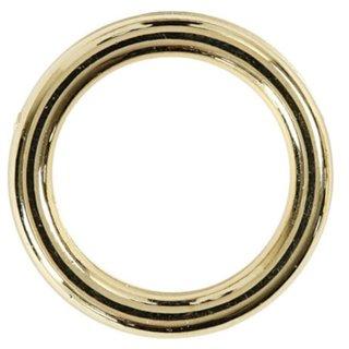 Kunststoffring 15 Mm Gold 25 Stück