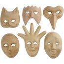 Masken Aus Pappmaché 6 Stück
