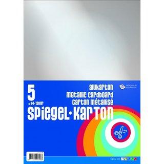 Spiegelkarton 5 Blatt Mehrfarbig