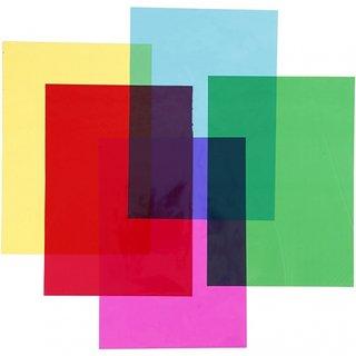 Zellophan Mehrfarbig 21 X 29,7 Cm 100 Stück Transparent