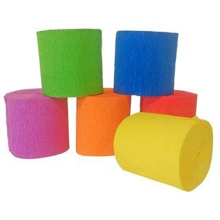 Krepppapier 10 M X 5 Cm 6 Stück Mehrfarbig