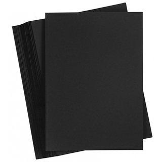 Karton A2 200 Gramm Schwarz 100 Blatt