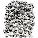 Perlenmischung Kunststoff 7-11 Mm Silber 400 Stück