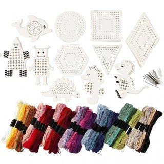 Stickgarn-Set 181-Teilig Mehrfarbig