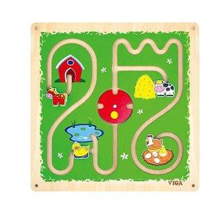 Wand-Spiel Labyrinth Bauernhof 47 Cm Grün
