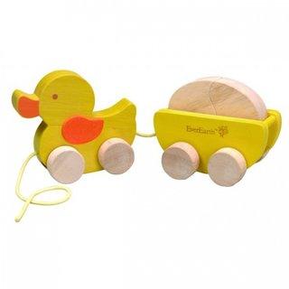 Zug Ente Mit Eiholzseil Weiß-Gelbes Seil