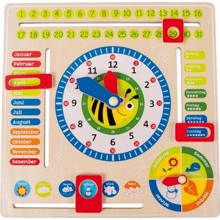 Holzlehr Uhr Datum / Zeit Und Jahreszeiten (Ger)