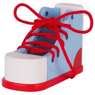 Sie Lernen, Sich Selbst Binden Der Schuhe 16,5 Cm Blau / Rot