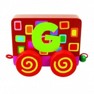 Wood Letter: G Alphabet Train