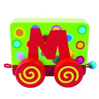 Wood Buchstaben: Buchstaben Train M