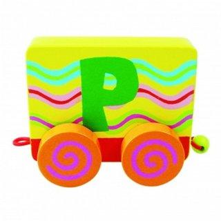Wood Buchstaben: Buchstaben P Zug