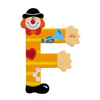 Buchstabe F Clown 10Cm