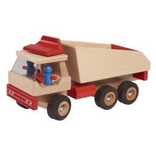 Muldenkipper 34,5 Cm Holz Klar/Rot