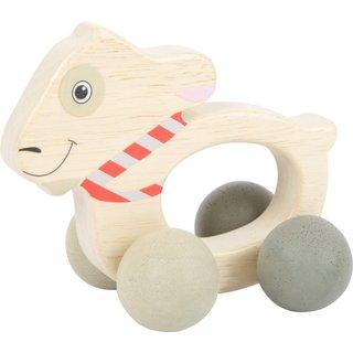 Holzgriff Auf Rädern Spielzeug Kind 10Cm