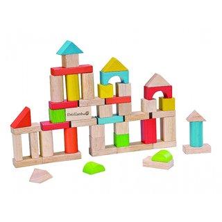 Holzblocks Mehrfarbige Formen 50 Stück