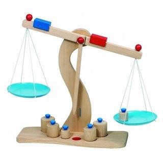 Holz Scale Mit Gewichte 6 30 X 10 X 31 Cm