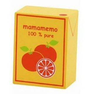 Packet Orangensaft Holz 4 X 6 X 3 Cm Orange