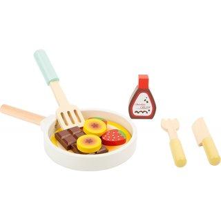 Spielzeug Lebensmittel Pfannkuchen Holz Junior 7-Teilig