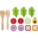 Spielzeug Lebensmittel Salat Holz Junior 15-Teilig