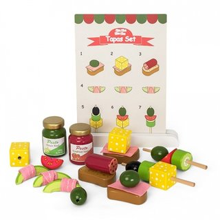 Tapas-Set Spielzeug Lebensmittel Holz 2-Teilig