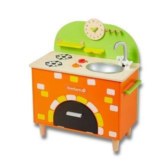 Spielzeugküche Aus Holz Mit Steinofen 70 Cm