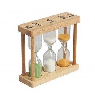 Sanduhr 10 X 9 X 3 Cm Aus Klarem Holz