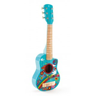 Flower Power Holzgitarre 66 Cm