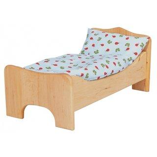 Holzpuppenbett Erle (Ohne Bettwäsche)