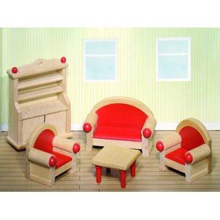 Hölzerner Dollhouse Wohnzimmer 5-Teilig