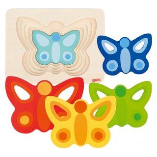 Jigsaw Holz Schmetterlinge 5 Teile