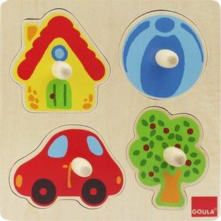 4 Stücke Form Farbe Puzzle