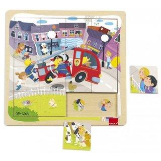 16 Stück Puzzle Feuerwehr