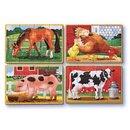 Bauernhoftiere-Puzzle-Set