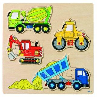 Puzzle Baufahrzeuge 12-Teilig